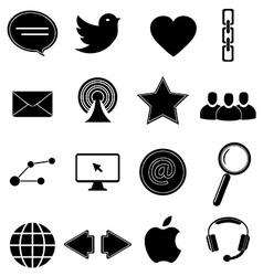Internet web icons set vector image vector image