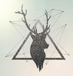 Abstract geometric Deer contour vector image vector image