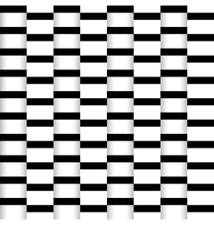 Abstract seamless paper stripes monochrome pattern vector image