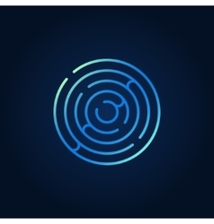 Blue round maze colorful icon vector image vector image