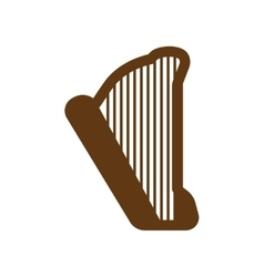 Flat web icon on white background harp vector