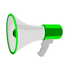 Green megaphone vector image