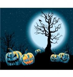 halloween jack-o-lanterns vector image vector image