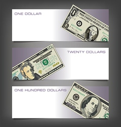 Money Dollar Banners vector image vector image