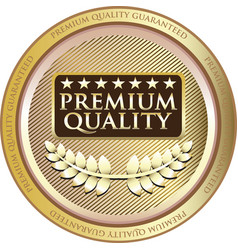 premium quality gold icon vector image