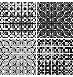 seamless checked crisscross patterns set vector image vector image