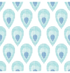 Abstract textile peacock feathers seamless pattern vector image