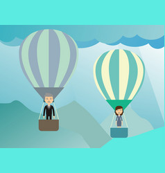 businessman in a balloon flat style vector image vector image