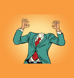 Businessman without a head vector
