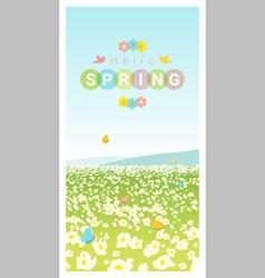 Hello spring landscape background 2 vector image