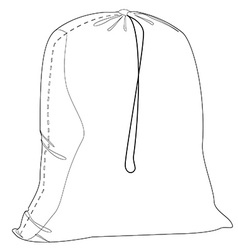 Military sack outline vector image