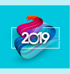 2019 new year festive background with colorful vector image