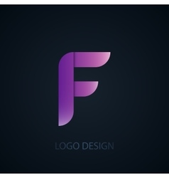abstract business logo vector image