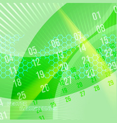 abstract motion colors on a green vector image