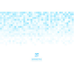 Abstract squares geometric light blue background vector
