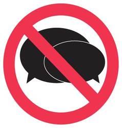Ban speak sign vector