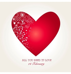 Beautiful Heart for Valentines Day vector image