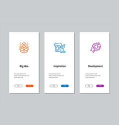 Big idea inspiration development onboarding vector