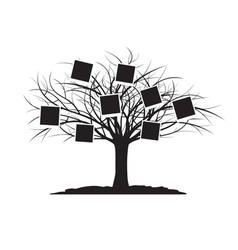 Black tree and cards vector