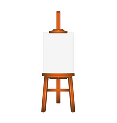 Blank art board wooden easel vector