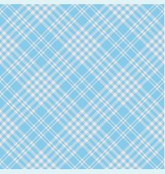 blue beige argyle gingham plaid pattern vector image
