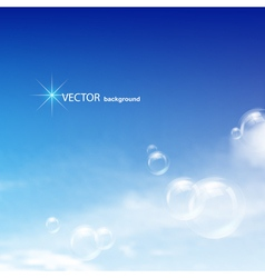 Blue sky bubbles vector