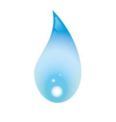 Blue water drop vector