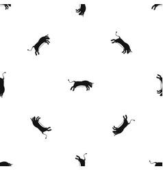 Bull pattern seamless black vector