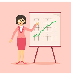 Businesswoman Presentation Growing Up Pink vector image