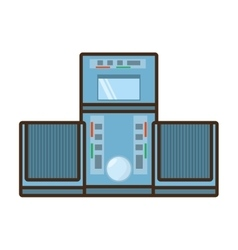 Cartoon tape recorder music appliance vector