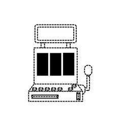 Casino slot machine icon vector