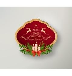Christmas Sign Board vector image