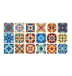 Collection of ceramic tiles in vector
