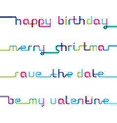 Congratulations written from one color strip vector