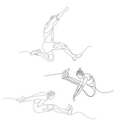 Continuous one line long jumper set summer vector