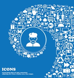 Cook icon sign Nice set of beautiful icons twisted vector