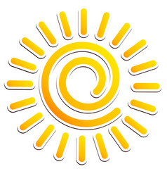 cool swirling sun clipart vector image
