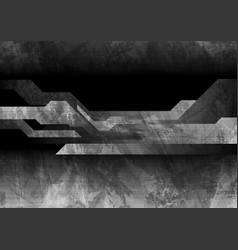 dark grey grunge technology background vector image