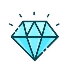 diamond precious stone modern vector image