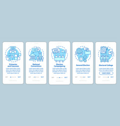 Elections onboarding mobile app page screen vector