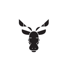 elk head black concept icon elk head flat vector image