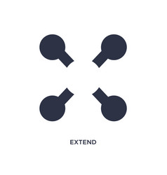 Extend icon on white background simple element vector