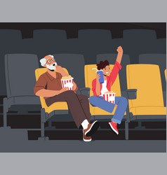 family weekend entertaining grandfather vector image