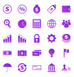 Finance gradient icons on white background vector