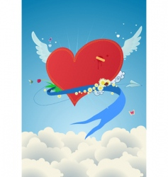 funky heart vector image