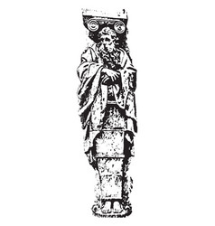 Gaine of renaissance sculpture is a lower part of vector