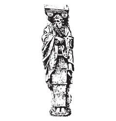 Gaine renaissance sculpture is a lower part of vector