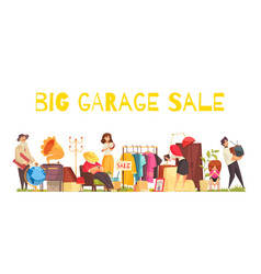 Garage sale concept vector