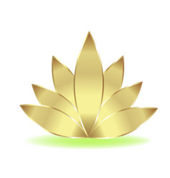 gold lotus logo vector image