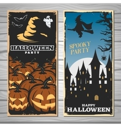 Halloween party flyers vector